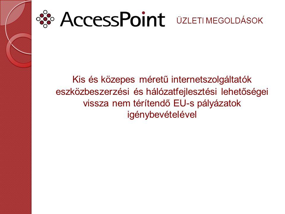 Kis és közepes méretű internetszolgáltatók eszközbeszerzési és hálózatfejlesztési lehetőségei vissza nem térítendő EU-s pályázatok igénybevételével ÜZLETI MEGOLDÁSOK