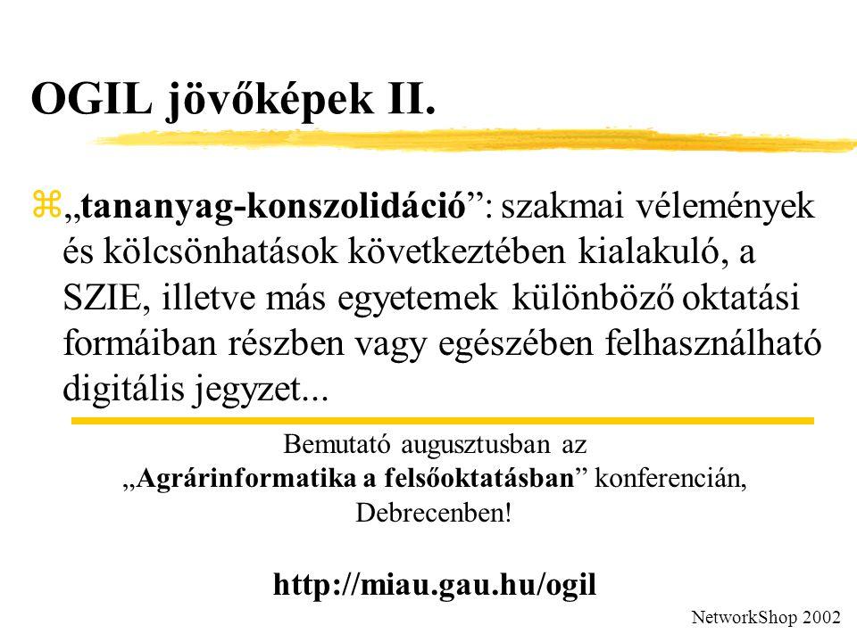 OGIL jövőképek II.