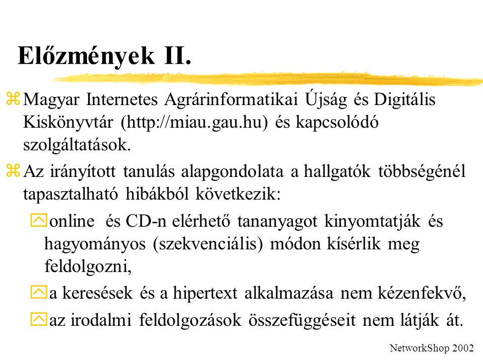 Előzmények II.