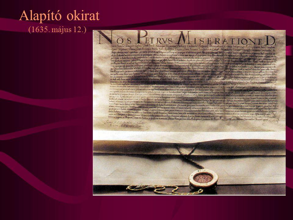 Alapító okirat (1635. május 12.)