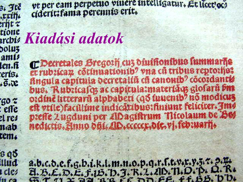 Legrégebbi könyvünk (1510)