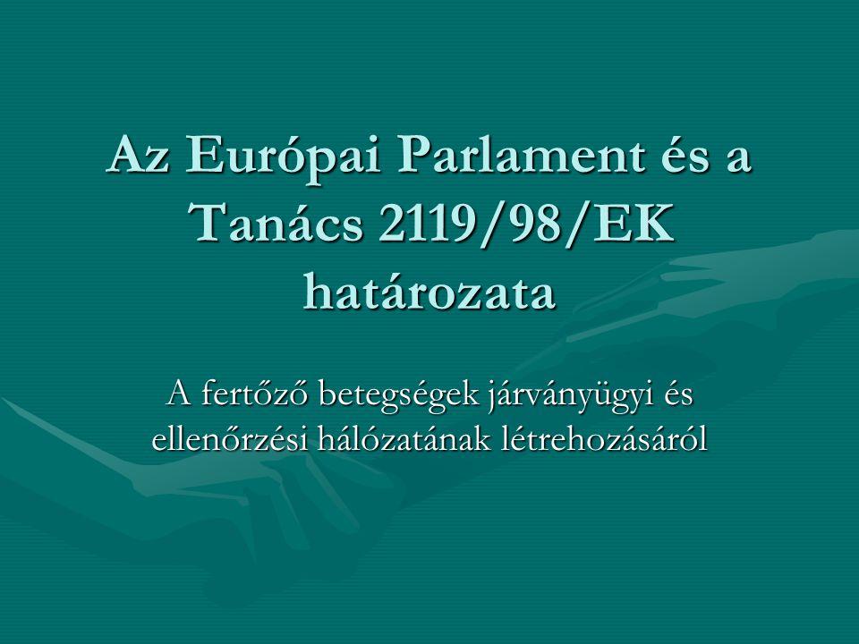 Az Európai Parlament és a Tanács 2119/98/EK határozata A fertőző betegségek járványügyi és ellenőrzési hálózatának létrehozásáról