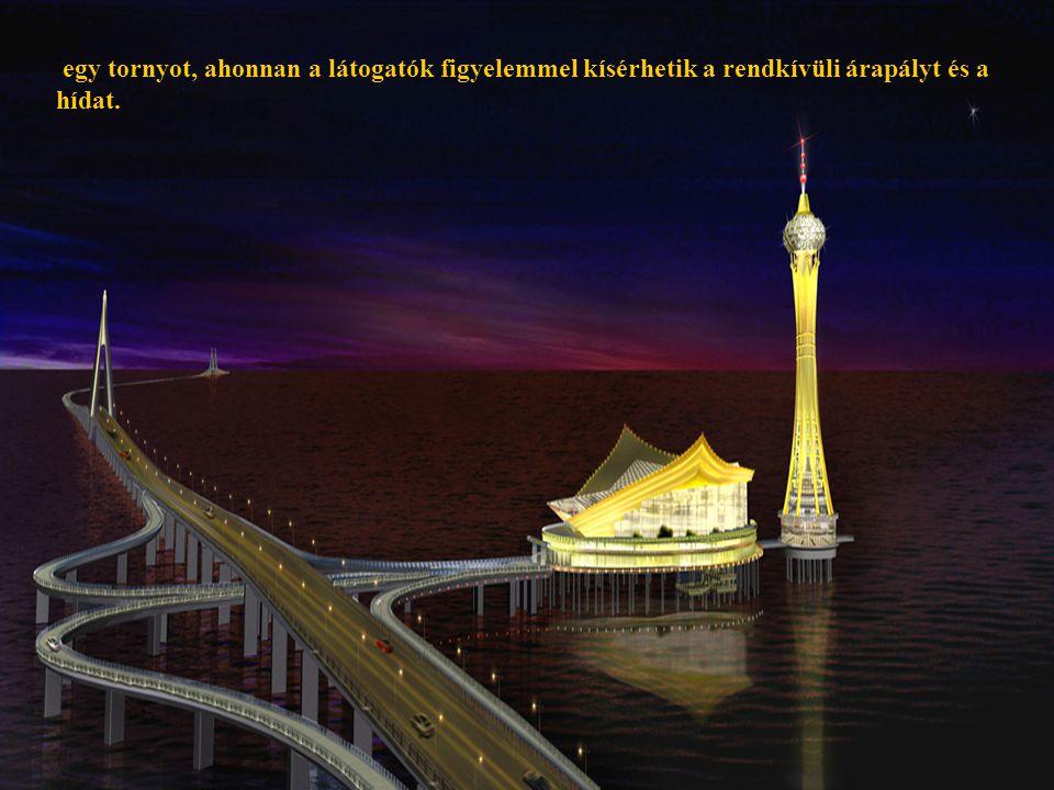 27 egy tornyot, ahonnan a látogatók figyelemmel kísérhetik a rendkívüli árapályt és a hídat.