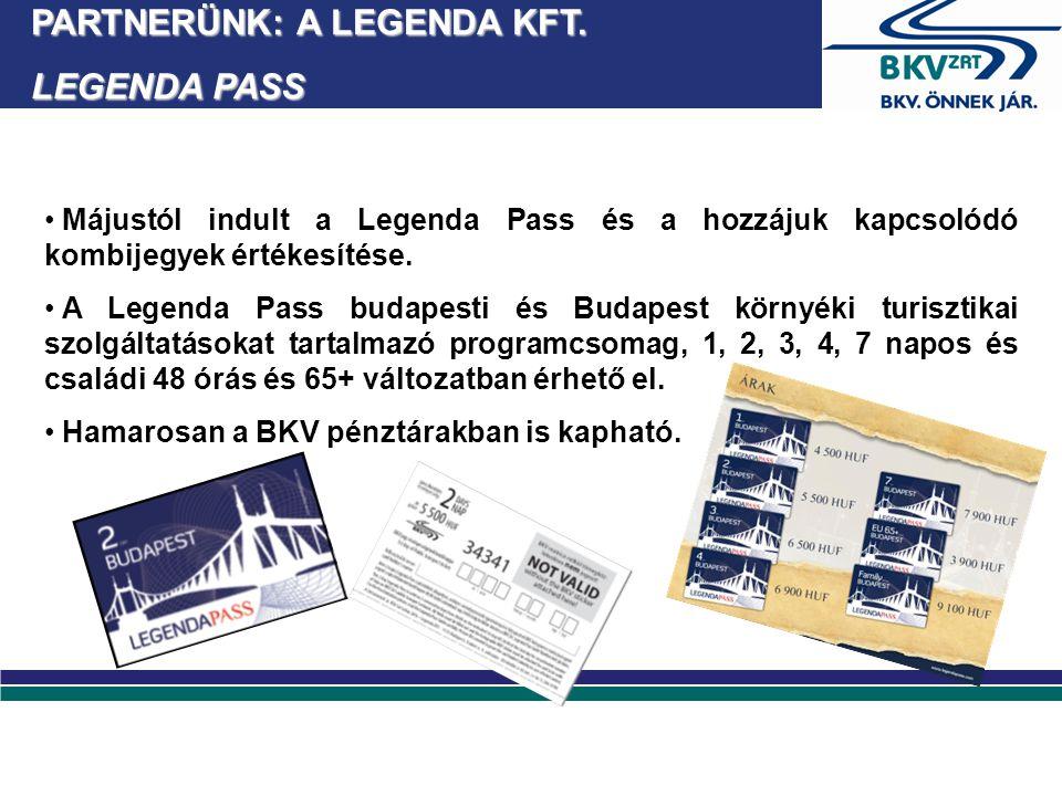 Májustól indult a Legenda Pass és a hozzájuk kapcsolódó kombijegyek értékesítése.