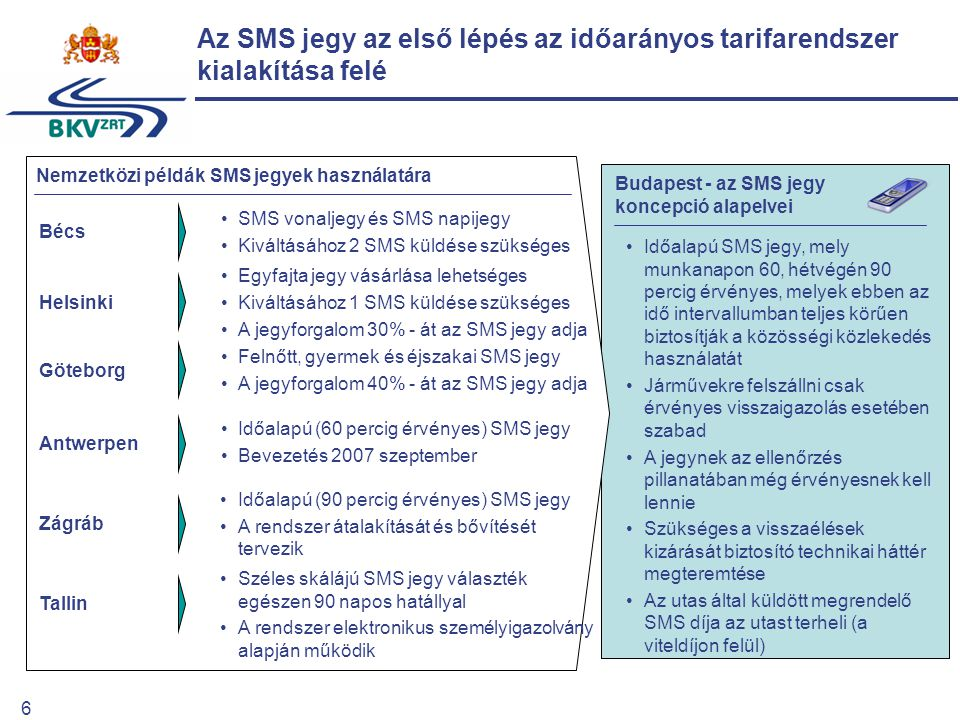 7 Az e-ticketing előnyei a BKV számára Az e-ticketing előnyei az utasok számára A tarifakoncepció megvalósításának második szakaszában, az e-ticketing bevezetésével lehetőség nyílik a teljesítményarányos díjszabás kiterjesztésére 2009 végére megkezdődik az e- ticketing rendszer bevezetése Lehetővé válik a tarifareform második szakaszának megvalósítása, melynek fő célja a teljesítmény- arányos díjszabás kiterjesztése a BKV rendszerében Az e-ticketing bevezetése bevételbiztonság javítása: –bliccelés csökkentése, visszaszorítása –a kedvezmények után járó árkiegészítések elszámolási alapjának megteremtése forgalmi és gazdasági működési hatékonyság növelése, javítása utasszámlálási költségek csökkentése forgalmi igények pontosabb felmérése, optimálisabb hálózatfejlesztés a chipkártyához kapcsolódó többletbevételek realizálása az igénybe vett teljesítménnyel arányos díjfizetés az utazóközönség magasabb színvonalú kiszolgálása az utasok számára vonzó díjcsomagok kialakítása kényelmi szolgáltatások: –könnyebb jegy ill.