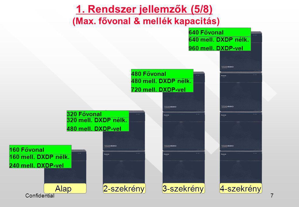 Confidential8 1.Rendszer jellemzők (6/8) (Max.