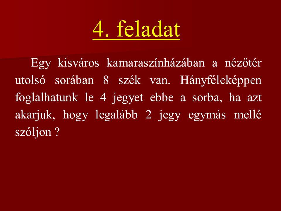 Az 4-találatos szelvények száma: