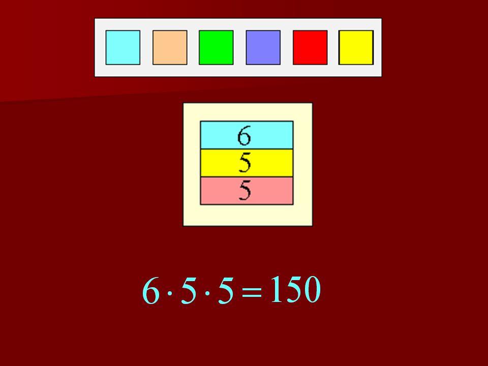 2. feladat Pistinek 6 különböző színű festék áll rendel- kezésére. Ezek felhasz- nálásával szeretne tri- kolort készíteni. Hány fajta 3 csíkból álló z
