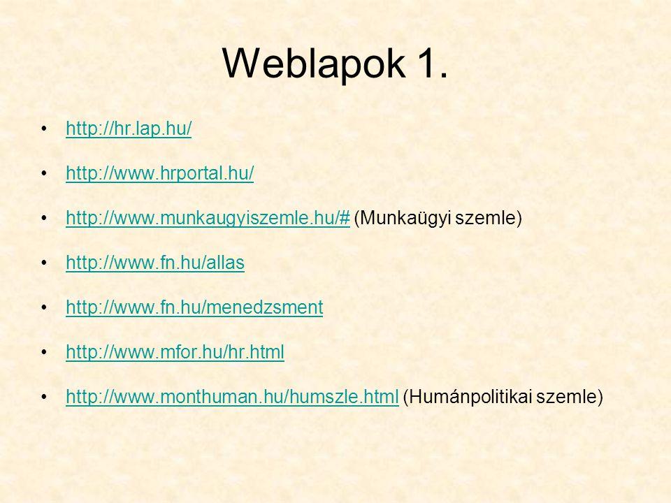 Weblapok 1.