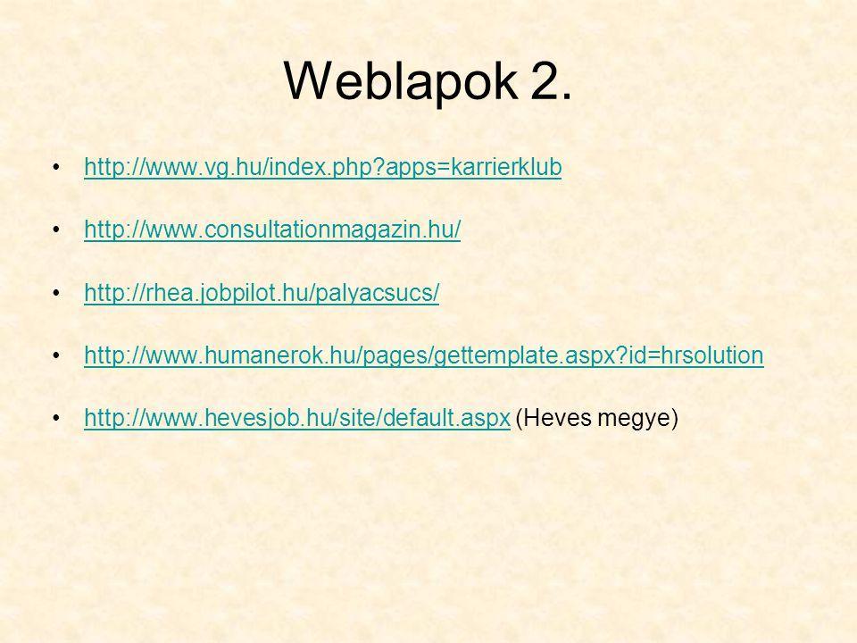Weblapok 2.