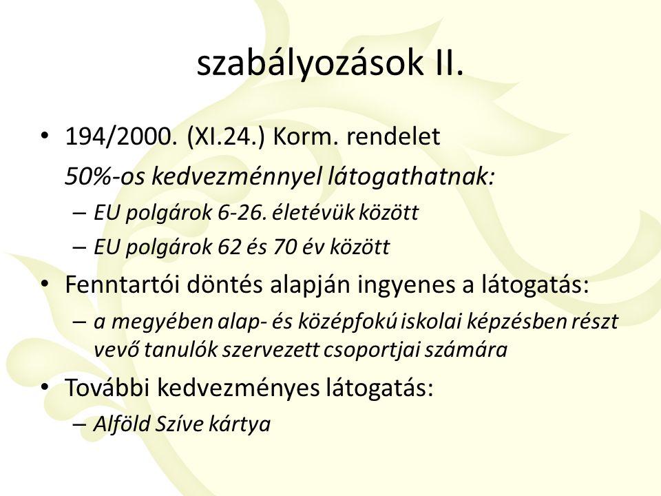 szabályozások II. 194/2000. (XI.24.) Korm.