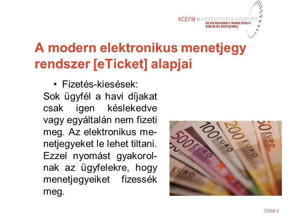 Oldal 8 A modern elektronikus menetjegy rendszer [eTicket] alapjai Fizetés-kiesések: Sok ügyfél a havi díjakat csak igen késlekedve vagy egyáltalán nem fizeti meg.