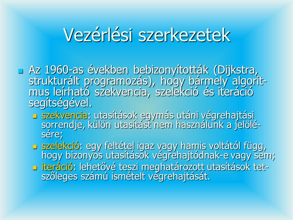 public boolean verembe(int adat){ if(!tele()){ elem[++teteje]=adat; return true; }else return false; } public int verembol(){ /* if(ures()){ Hibajelzés }else */ return elem[teteje--]; } }