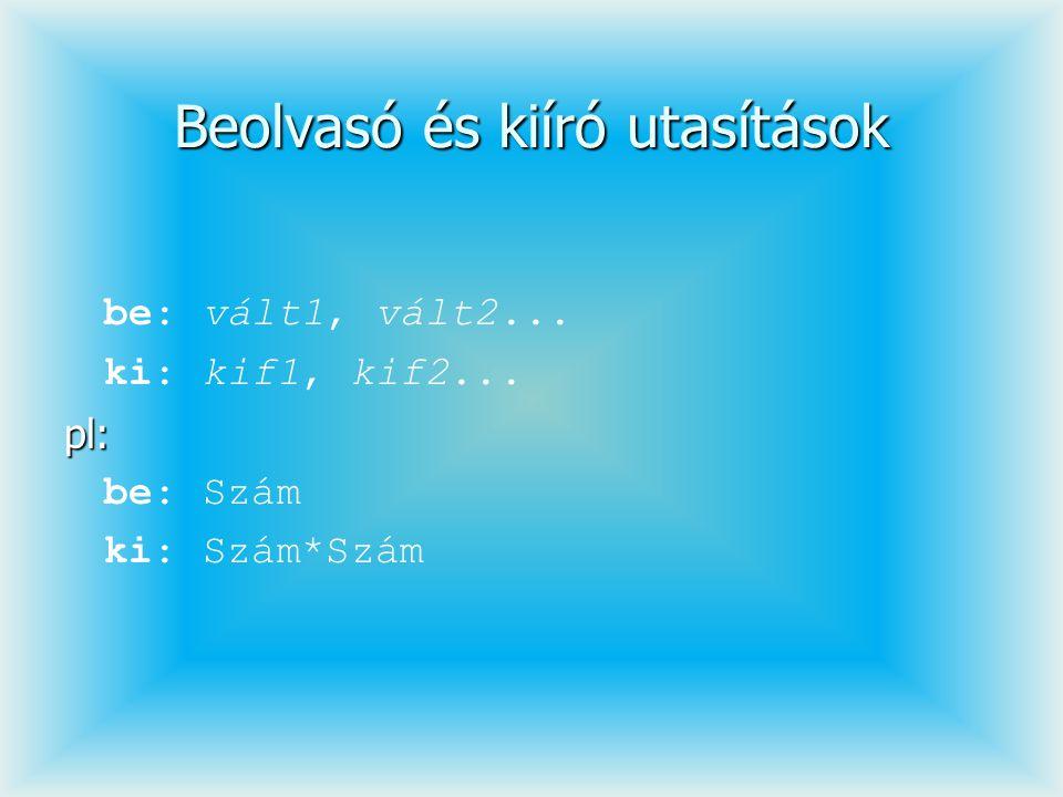 public Halmaz metszet(Halmaz h){ Halmaz m=new Halmaz(max); for(int i=0; i<elemszam; i++) if(h.eleme(elem[i])) m.betesz(elem[i]); return m; } public Halmaz unio(Halmaz h){ Halmaz u=new Halmaz(max+h.max); for(int i=0; i<elemszam; i++) u.betesz(elem[i]); for(int i=0; i<h.elemszam; i++) u.betesz(h.elem[i]); return u; } public Halmaz kulonbseg(Halmaz h){ Halmaz k=new Halmaz(max); for(int i=0; i<elemszam; i++) if(!h.eleme(elem[i])) k.betesz(elem[i]); return k; }