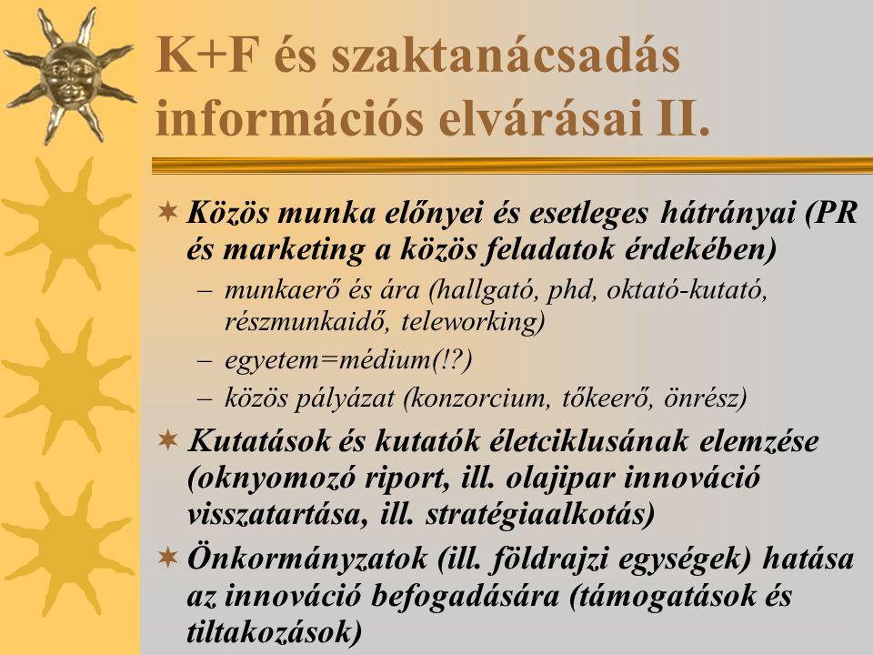 Lehetséges támogatók információs igényei I. Miért vele.