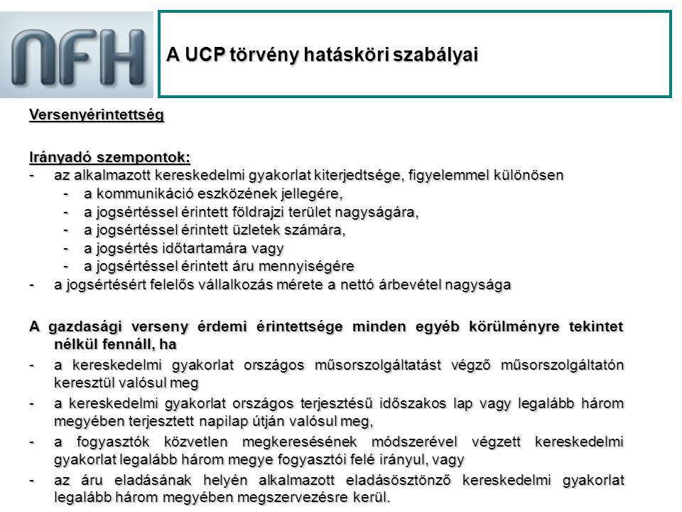 NFH A UCP törvény hatása az NFH hatáskörére 2008.szeptember 1-je előtt2008.