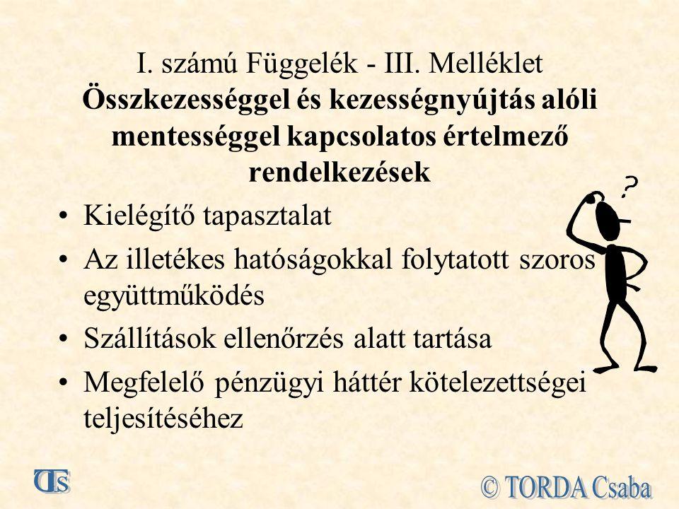 I.számú Függelék - III.