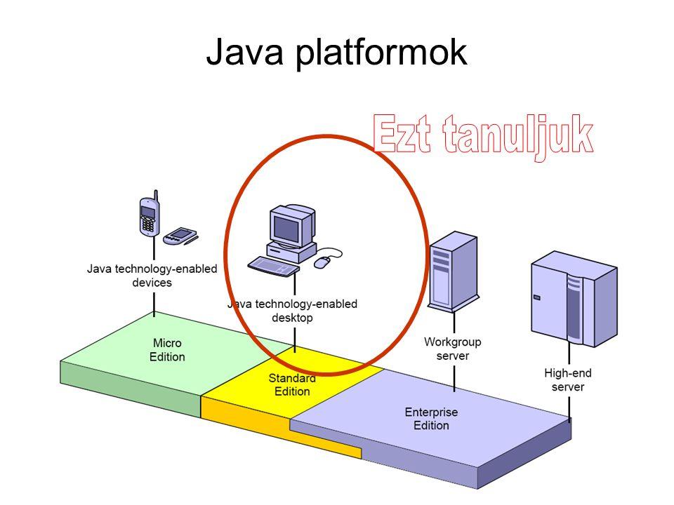 Java platformok