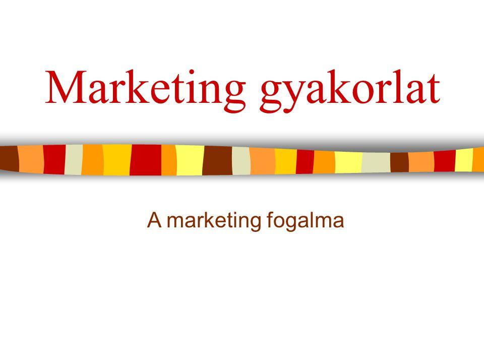 12 Miért változott a marketing gyakorlat.