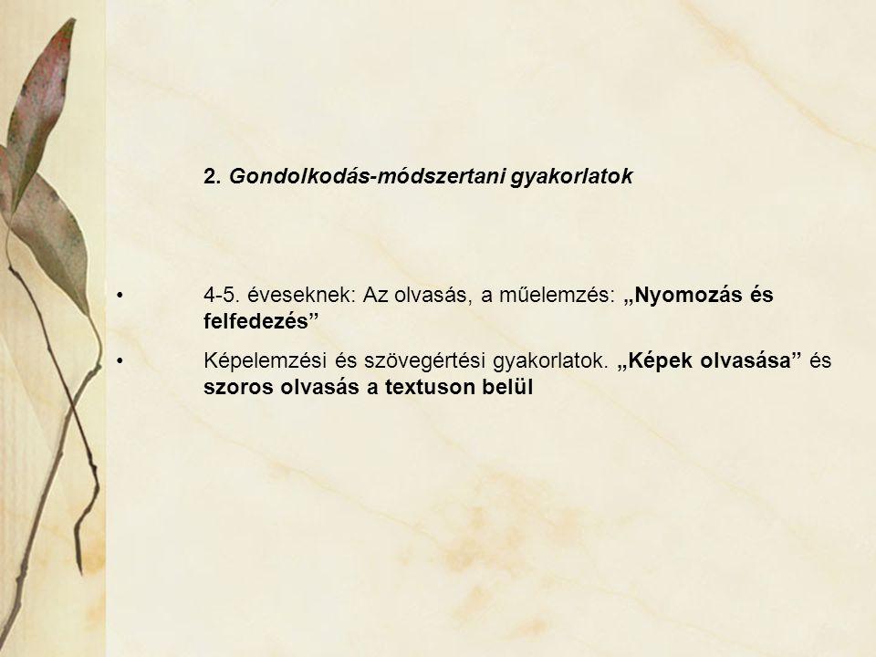 3.Múzeumpedagógiai szeminárium és gyakorlat Szeminárium 4-5.