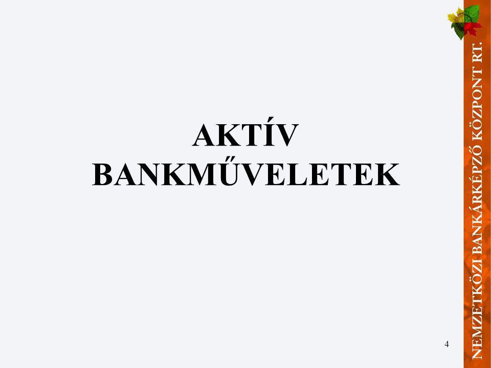4 AKTÍV BANKMŰVELETEK