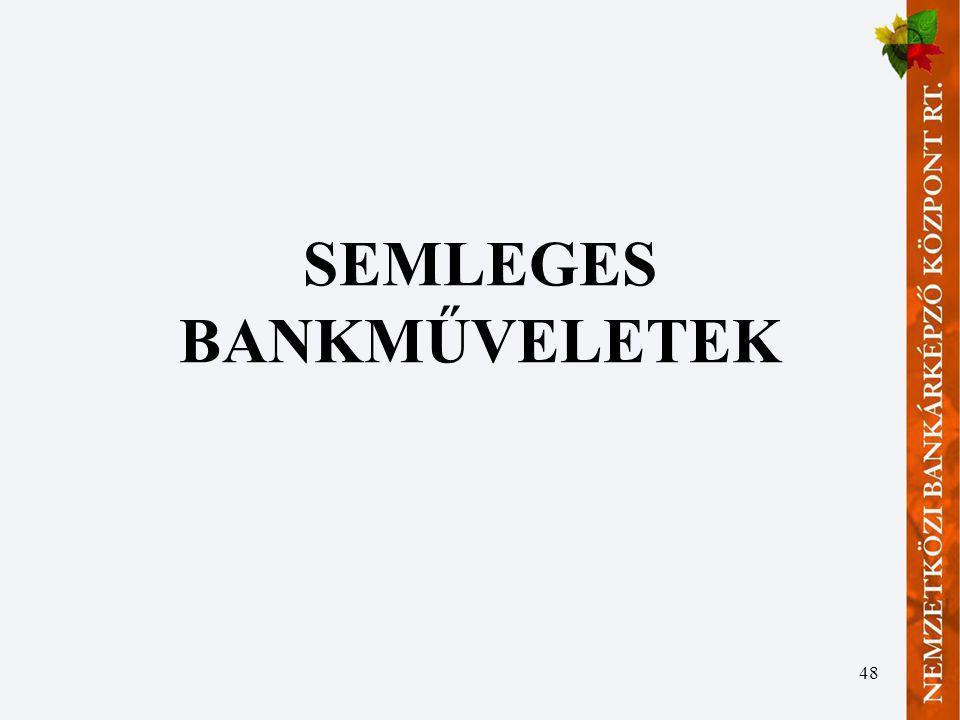 48 SEMLEGES BANKMŰVELETEK