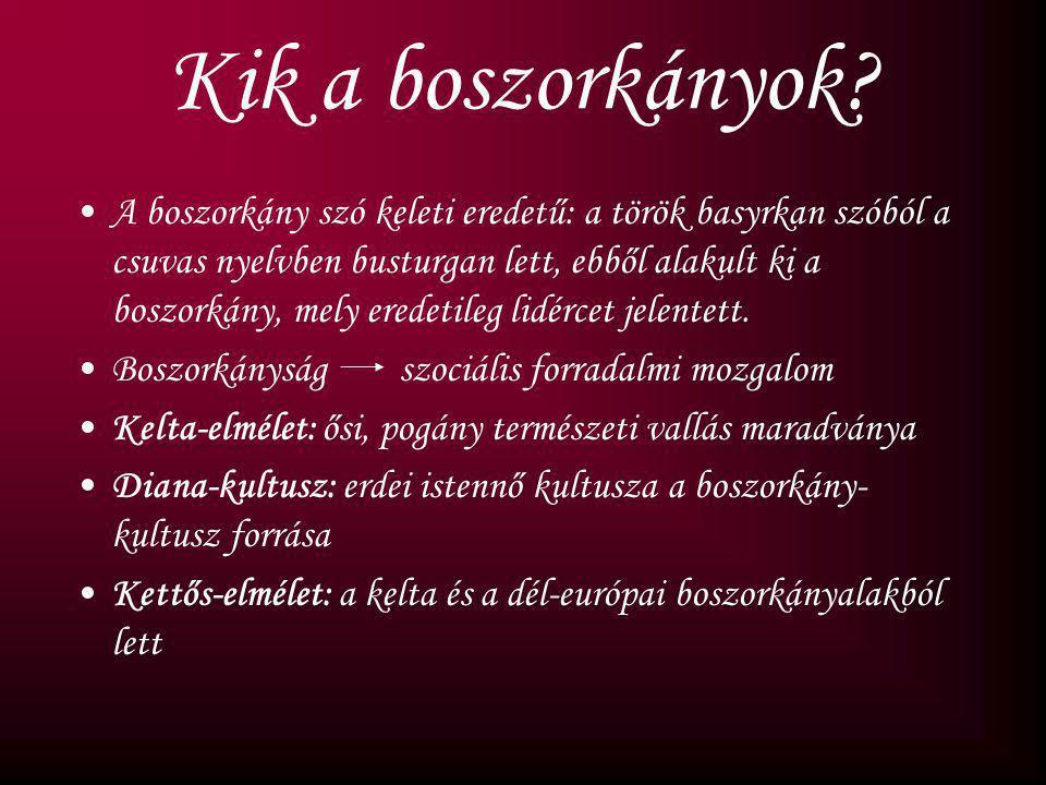 Boszorkányüldözések A középkor hivatalos nő gyűlölete Statkiewicz Sonja 11.a