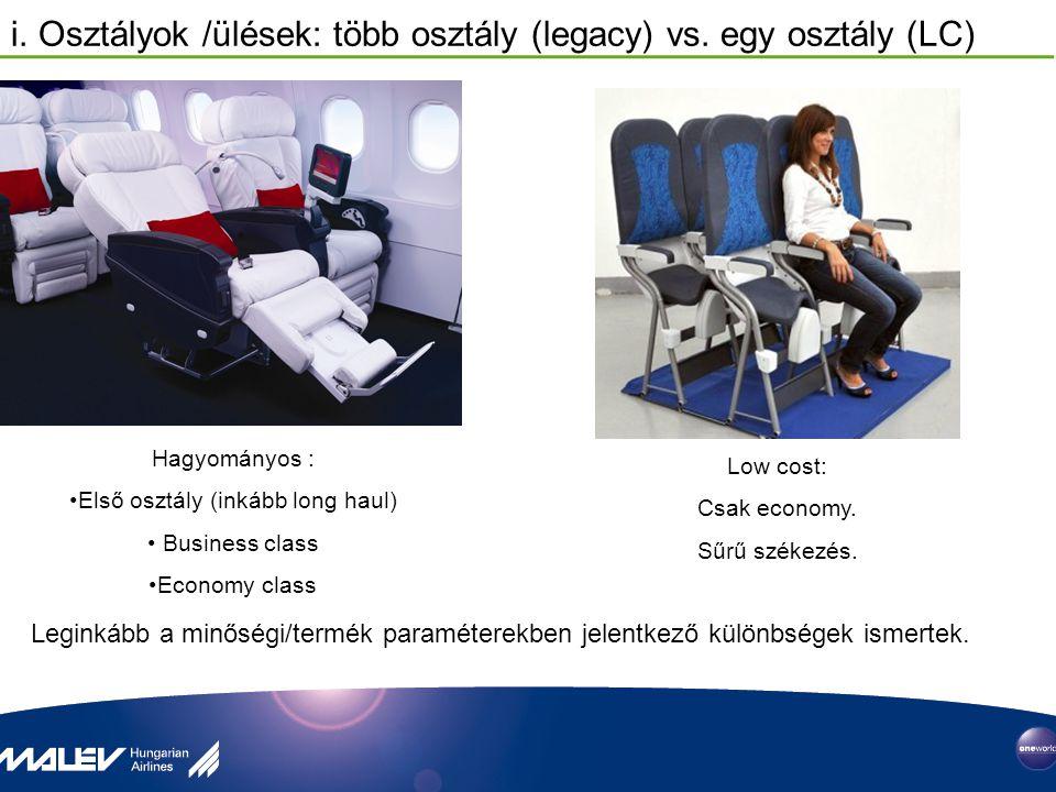 i.Osztályok /ülések: több osztály (legacy) vs.