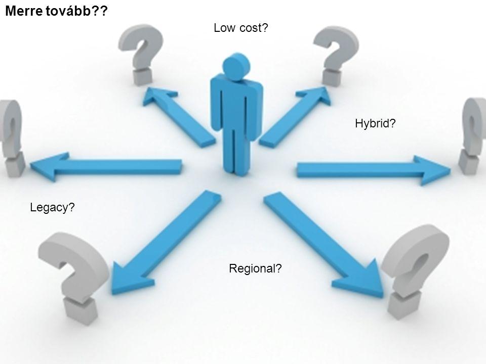 Merre tovább?? Hybrid? Legacy? Regional? Low cost?