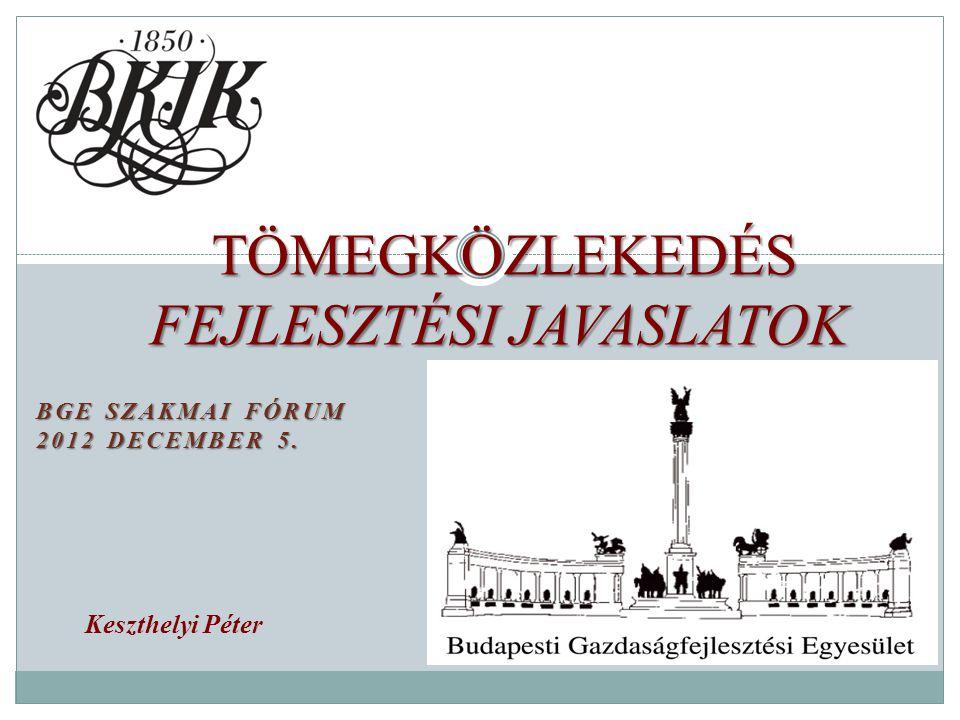 BGE SZAKMAI FÓRUM 2012 DECEMBER 5.