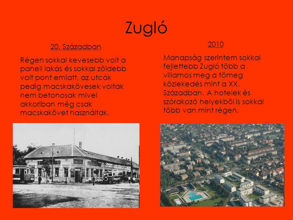 Zugló 20. Században Régen sokkal kevesebb volt a panell lakás és sokkal zöldebb volt pont emiatt, az utcák pedig macskakövesek voltak nem betonosak mi