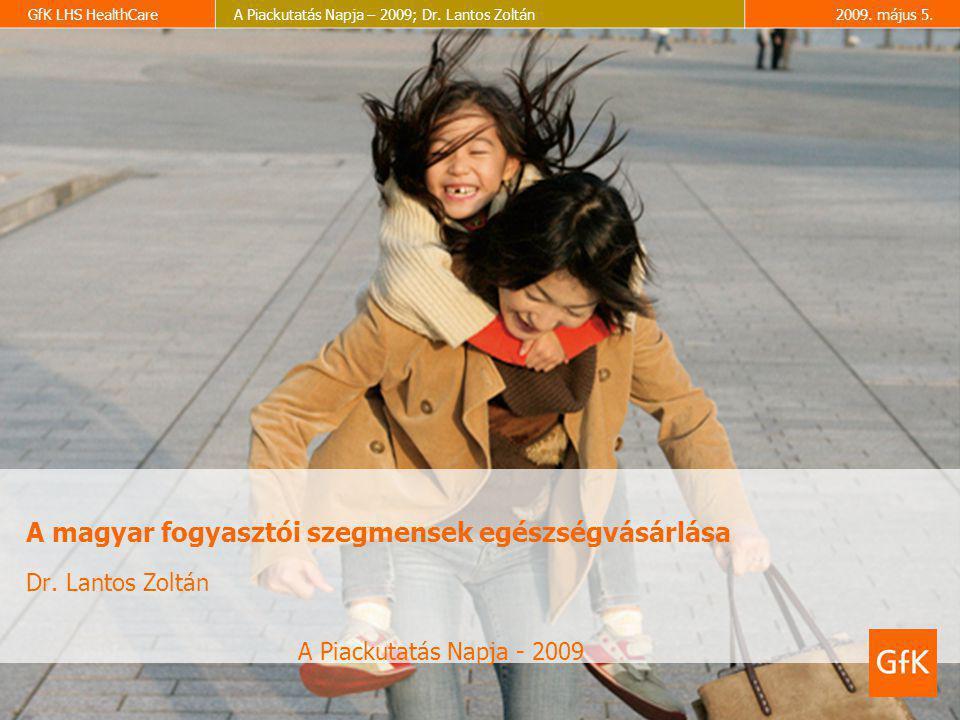 GfK LHS HealthCareA Piackutatás Napja – 2009; Dr. Lantos Zoltán2009. május 5. A magyar fogyasztói szegmensek egészségvásárlása Dr. Lantos Zoltán A Pia