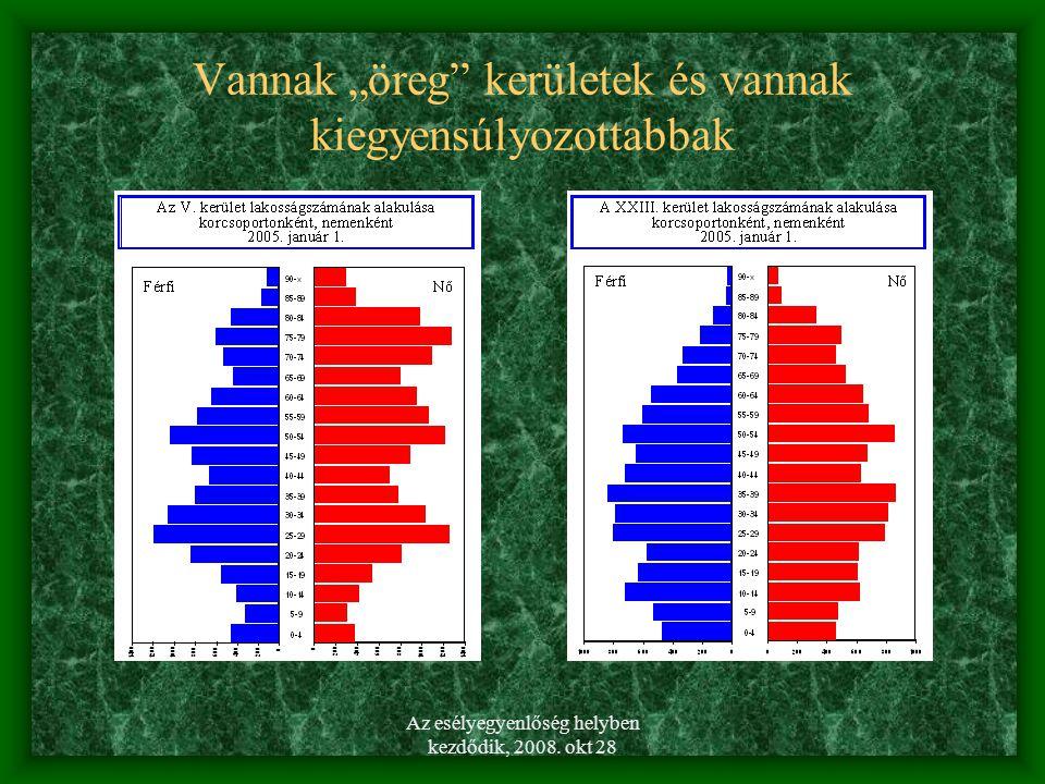 Az esélyegyenlőség helyben kezdődik, 2008.okt 28 KIK a hátrányos helyzetű csoportok.