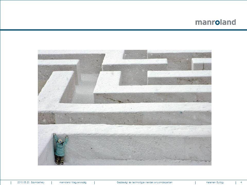 4Gazdasági és technológiai trendek a nyomdaiparban2010.05.20. SzombathelyKelemen Györgymanroland Magyarország