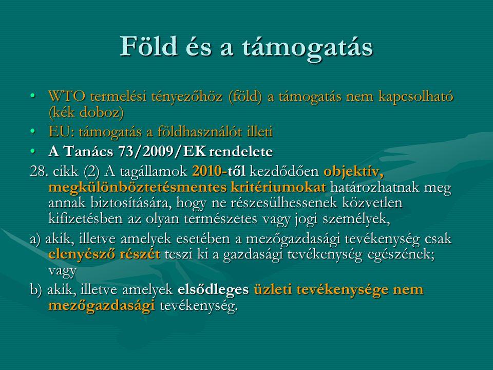 A moratórium (1) (2) Az Európai Unió alapját képező szerződésekben foglalt kötelezettségek ellenére Magyarország a csatlakozás időpontjától számított hét éven keresztül fenntarthatja az ezen okmány aláírása időpontjában hatályos jogszabályaiban foglalt, a nem Magyarországon lakó vagy nem magyar állampolgár természetes személyek, illetve a jogi személyek általi, mezőgazdasági földterület megszerzésére vonatkozó tilalmat.
