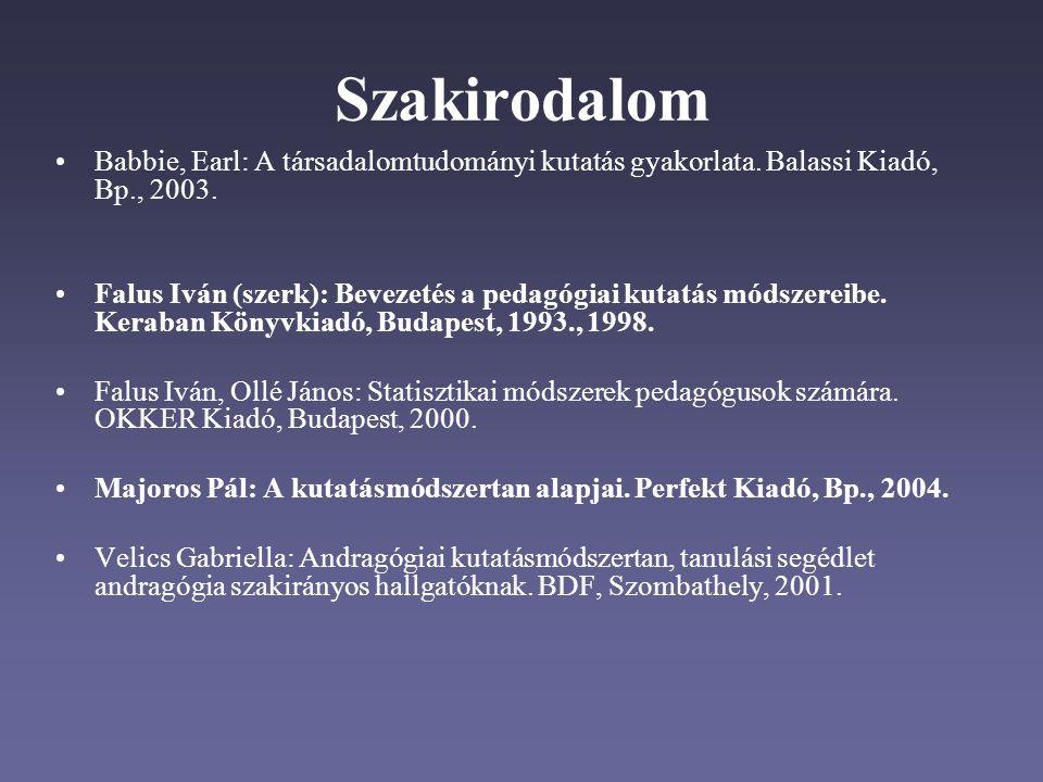 Hivatkozások a szövegben A szövegben a hivatkozás a szerző(k) nevével és a megjelenés évszámával történik.