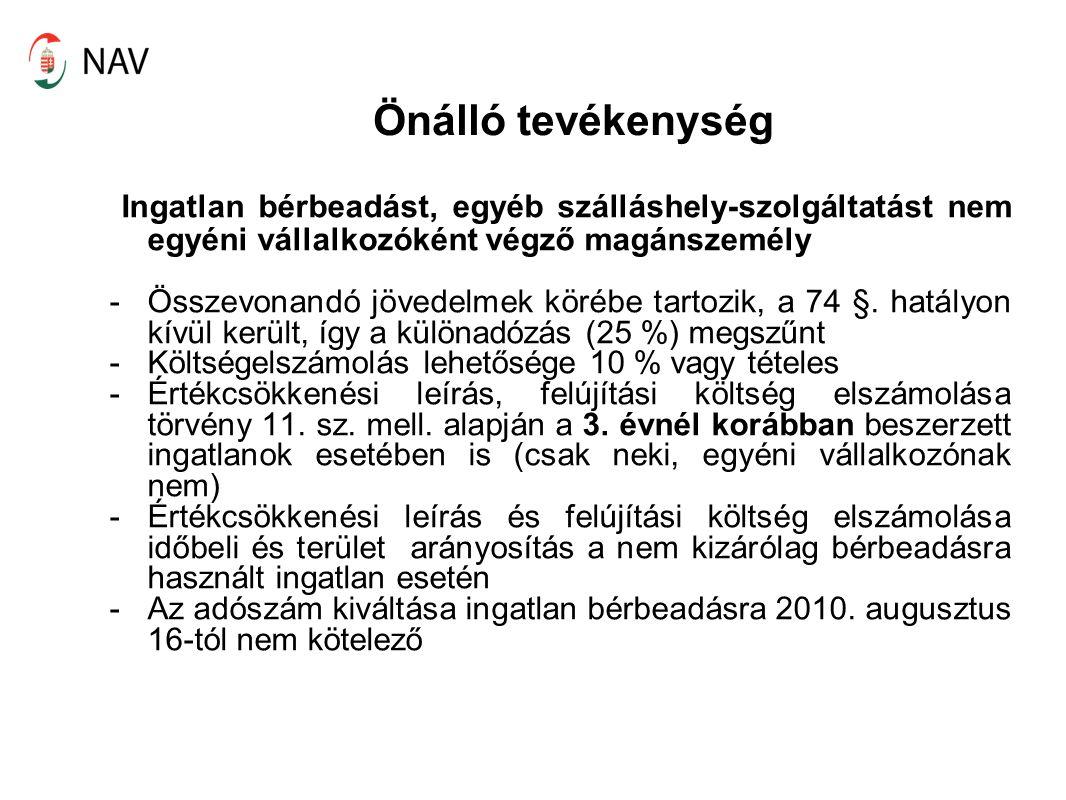 Ingatlan bérbeadás - Adószám nélküli ingatlan bérbeadás bizonylat – számviteli bizonylat, de nem számla kifizető esetén adóelőleg levonása kötelező (Szja tv.
