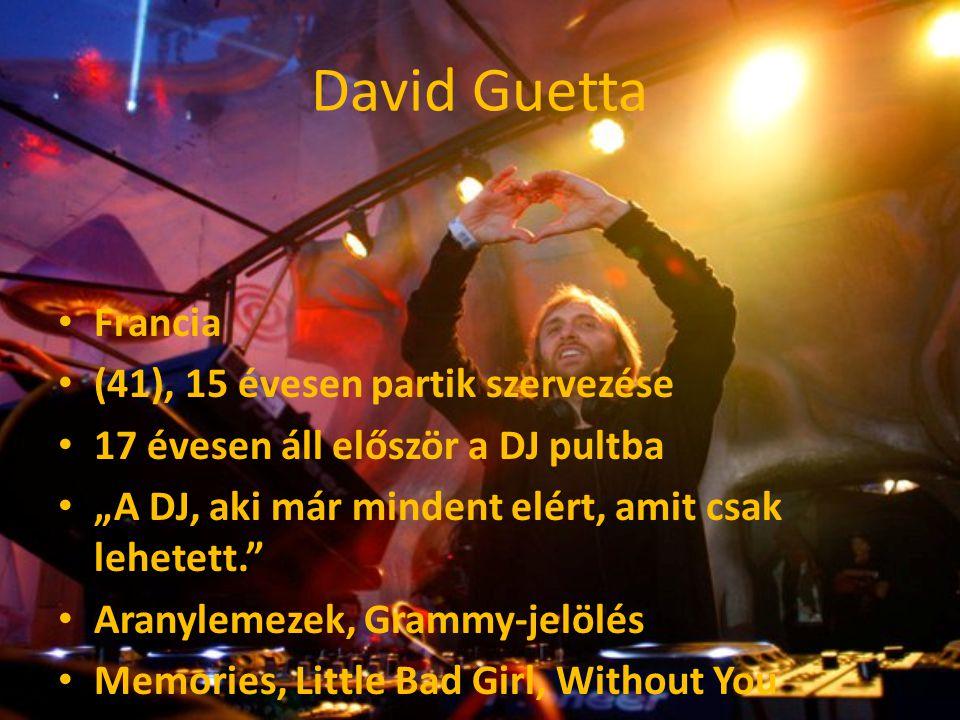 """David Guetta Francia (41), 15 évesen partik szervezése 17 évesen áll először a DJ pultba """"A DJ, aki már mindent elért, amit csak lehetett."""" Aranylemez"""