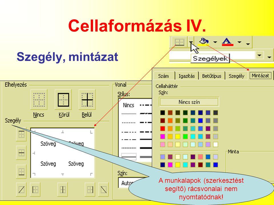 33 Cellaformázás IV.