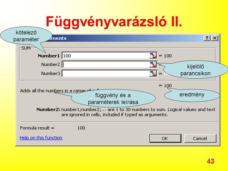 43 Függvényvarázsló II.
