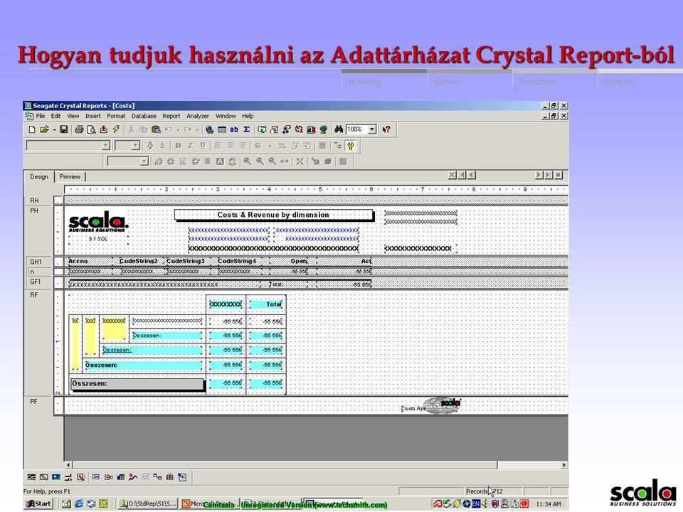 globalbusinessmakingsimple Hogyan tudjuk használni az Adattárházat Crystal Report-ból