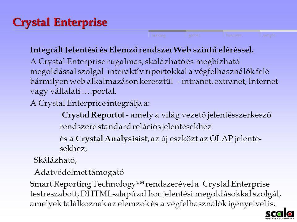 globalbusinessmakingsimple Negyedik lépés - Hogyan tudjuk használni az Adattárházat Crystal Analyses-ból