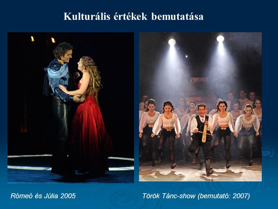 Kulturális értékek bemutatása Török Tánc-show (bemutató: 2007)Rómeó és Júlia 2005