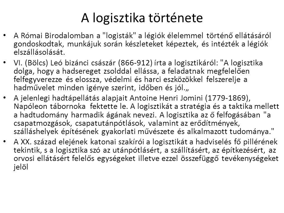 A logisztika története A Római Birodalomban a