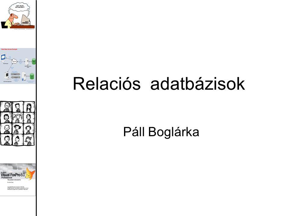 Relaciós adatbázisok Páll Boglárka
