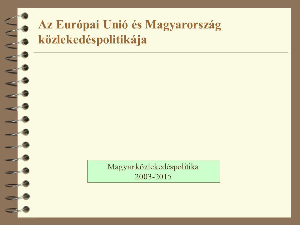 Magyar közlekedéspolitika 2003-2015 Az Európai Unió és Magyarország közlekedéspolitikája