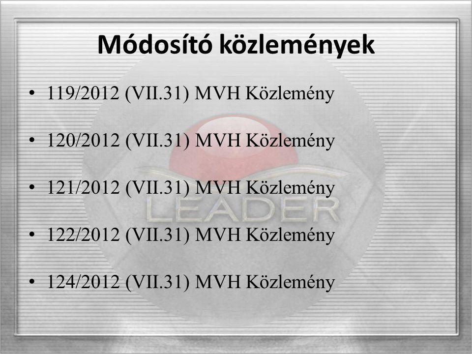Fontos Tudnivaló 2012.augusztus 1 – 2012. december 31-ig.