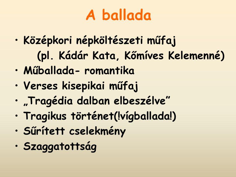 . Balladai homály Dialógusok Bűn-bűnhődés Erős lélektaniság Lírai monológok Képszerűség, zeneiség
