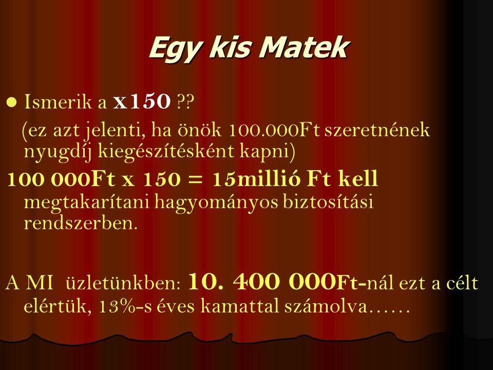 Egy kis Matek Ismerik a x150 .