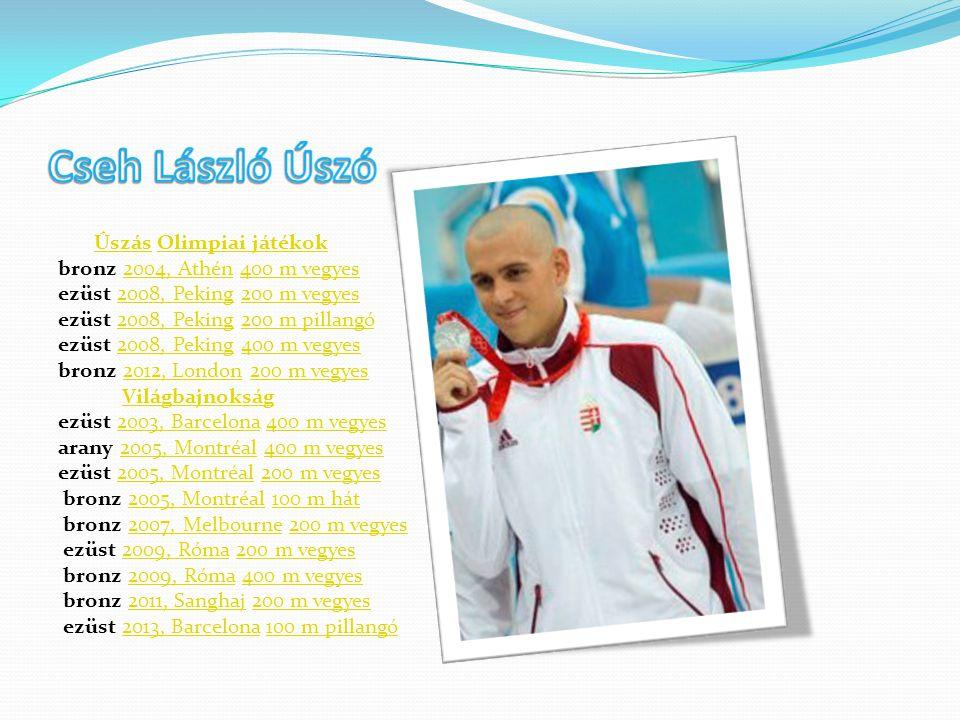 Úszás Olimpiai játékokÚszásOlimpiai játékok bronz 2004, Athén 400 m vegyes2004, Athén400 m vegyes ezüst 2008, Peking 200 m vegyes2008, Peking200 m veg